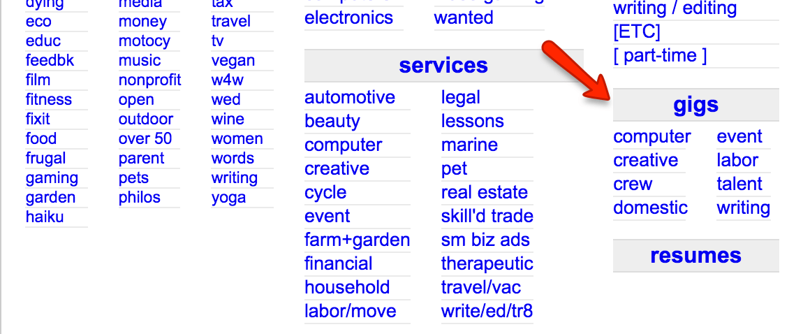 I used Craigslist gig section to fund my travels around the world for over two decades. You can find easy jobs paying you hundreds of dollars a day doing meaningless tasks for other. I wouldn't be a long term traveler without using craigslist gig section to fund my travels around the world