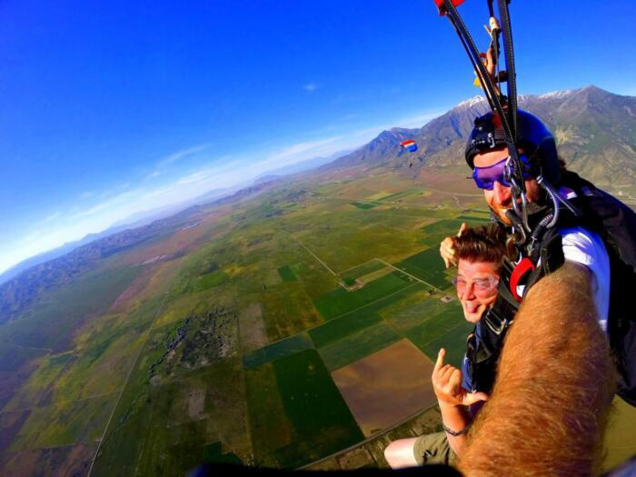 Sky Diving Adventure Travel