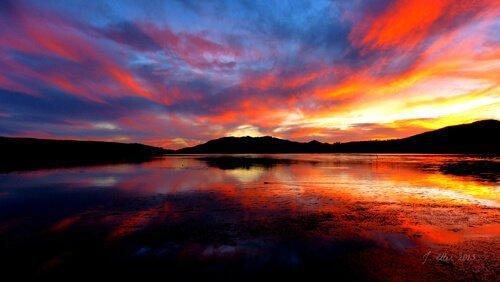 Sunset over Bear Lake utah