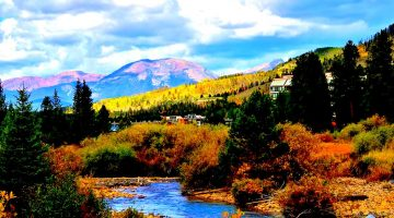 RV Living ski resort camping in the fall