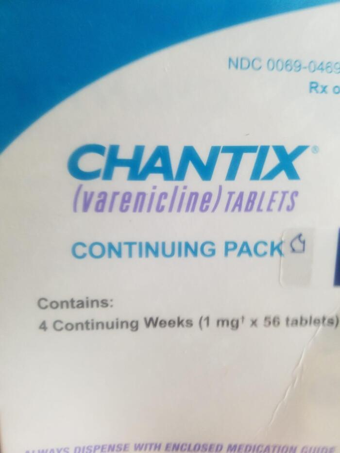 Change nothing but quit smoking with chantix