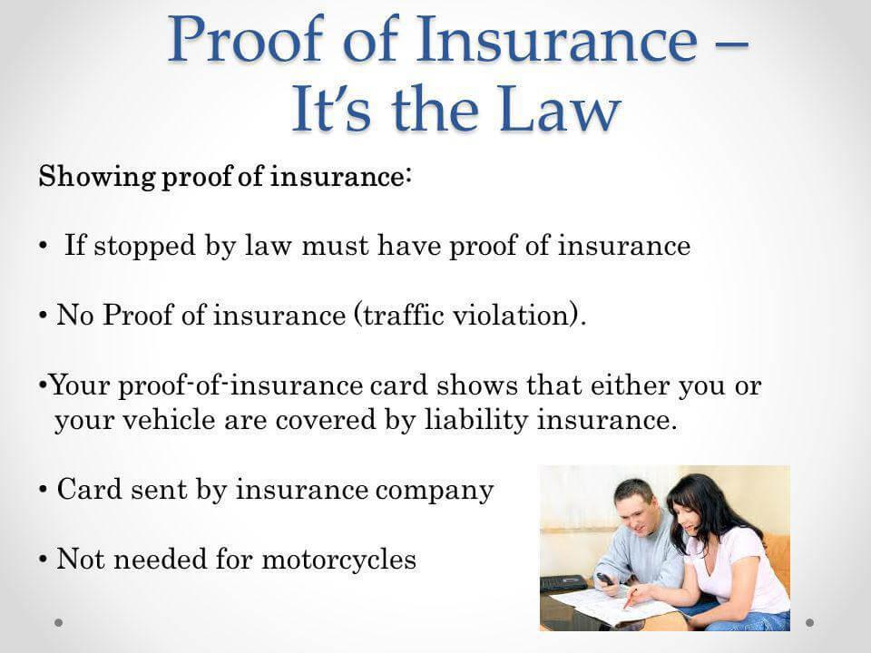 Cheap car insurance proof of insurance