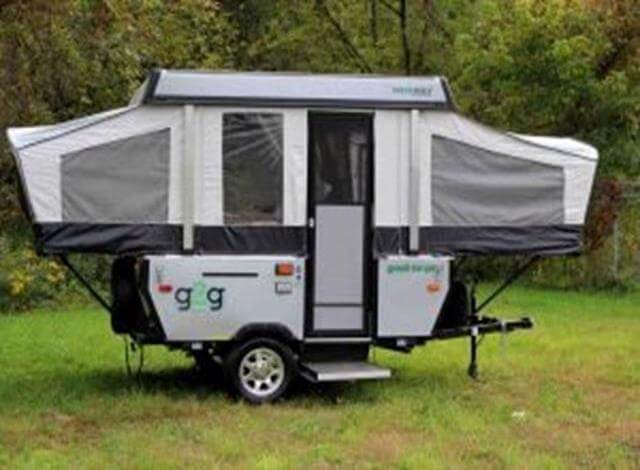 If you own a small vehicle and looking at buying an RV than consider a small popup tent trailer. They are small, lightweight, easy to transport, include all the basics and great for the whole family to enjoy the outdoors. Camping in a small popup trailer allows you to experience the RV life without the big price tag of a 5th wheel or Class C RV. Pop up tent campers are a great beginning RV, and really friendly on the wallet as well as gas tank. Pull them with a small sedan or SUV. Small popup tent trailers are great for roadtrips, traveling to Glacier National Park or even free camping in Telluride. When buying an RV consider small pop up tent trailer.