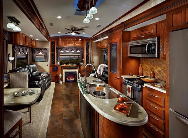 If your looking into buying an RV or fifth wheel camper then you need to prioritize your amenities because 5th wheels come with anything you want. Center island kitchens, heated floors. Two door fridges, central air, bluetooth lights. Its amazing the technology they can include in todays RVs. When buying an RV you need to make a checklist of the things you want so you don't get overwhelmed with choices, and end up buying the wrong RV. TO buy the right RV stay focused and ask lots of questions.