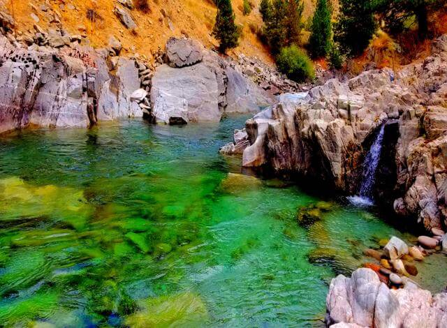 traveling with my toyota truck camper sunlite 690 and the new home made cabover camper tie downs I made this summer I was able to visit the kirkham hot springs just outside lowman idaho. Beautiful area to go cliff jumping, swimming, have a picnic and relax under a warm fed waterfall.