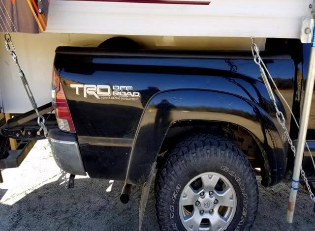 UNDER $50 Frame Mounted Truck Camper Tie Downs | AOWANDERS