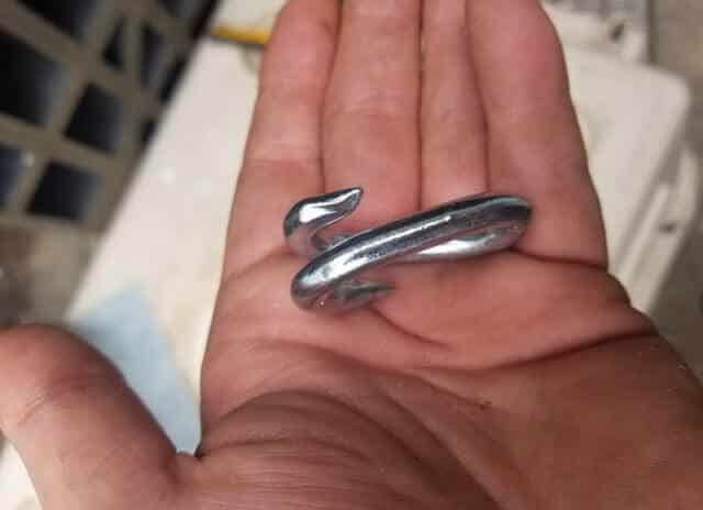 Chain repair links are they key to DIY camper tie downs. The ones I bought cost thirty cents and are rated for over 700 lbs at only 2 inches long. All it takes to install them is a pliers or set of vice grips. Anyone can install these.