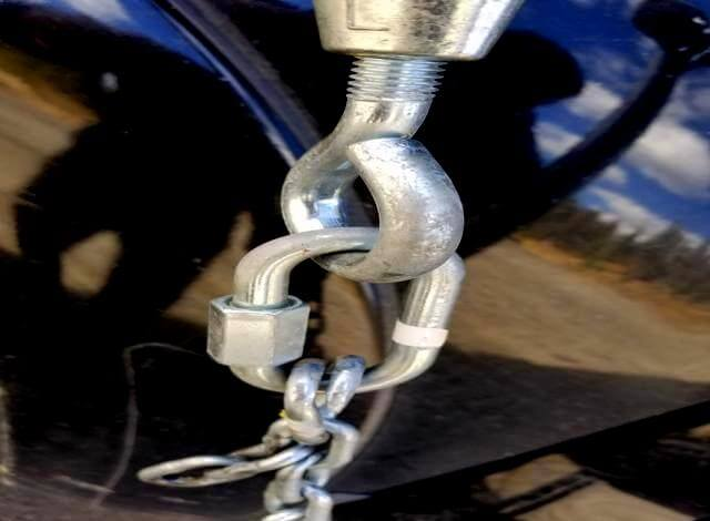 To make your own torklift frame mounted truck camper tie down all you need is 10 -15 feet of chain. Eight D-rings. Eight chain repair links. Four Turnbuckles. Something to cut the chain with and 30 minutes of time. Its that simple to make your own torklift tie down. Super easy.