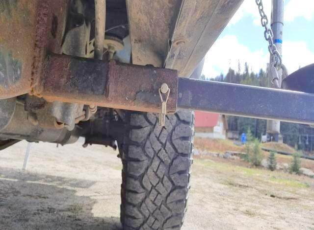 These were a torklift frame mounted camper tie down kit for a chevy silverado that tweaked to make fit my toyota tacoma by cutting off the unneccessary wings, flaps and excess bars. Then I side mounted it to my frame by welding it on in my brothers shop.