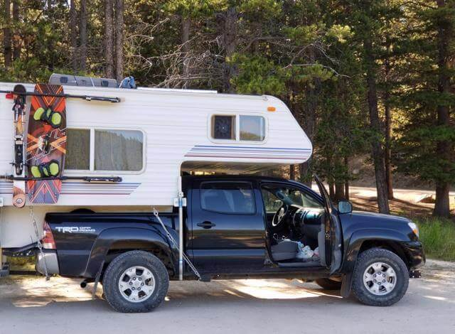 Cabover campers are wonderfully versatile & and extremely adaptable. But when trying to find a truck camper for a toyota tacoma its easier said than done. Because its a 1/4 ton truck this creates a variety of challenges from weight to dimensions. This last summer I spent almost 2months trying to find a truck camper that could fit my toyota tacoma until finally I realized I could just modify any cabover camper by cutting the corner so it would fit in between wheel wells. Want to learn how I did it check out my post on aowanders.com