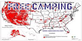 RV mistakes pile up quickly when new RV owners try boondocking for the first time. Use this FREE CAMPING map to help you find safer boondocking and free camping spots. RV mistakes while boondocking suck. Take your time and do your research. The more you know the less RV mistakes you will make.
