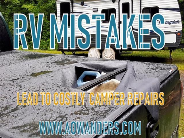 RV nightmares and camper mistakes are usually always self inflicted because the new RV owner wanted to save a little money, or ignored the posted signs of dangers ahead. Know your environment, limitations and capabilities. This will help you to avoid the most common RV mistakes and protect your camper investment for years to come. The biggest RV mistake you could make is rushing into any decision, task or purchase. Do your research. Slow down, and reach to the RV community and you will never make an RV mistake.
