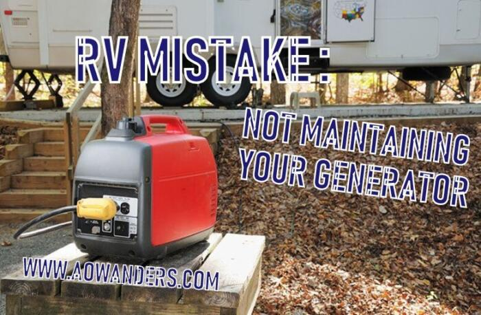 A crucial part to cheap rv living is your generator, and properly maintaining it. A popular RV mistake is not changing the oil in your brand new generator. On new RV generators you want to change the oil for the first time within 30 hours. After that you want to change your RV generator oil every 100 hours. Most people change their oil once a year in the spring time when they take they RV Camper or travel trailer out of storage. Don't make the RV mistake of not changing your oil or you will have a useless generator.