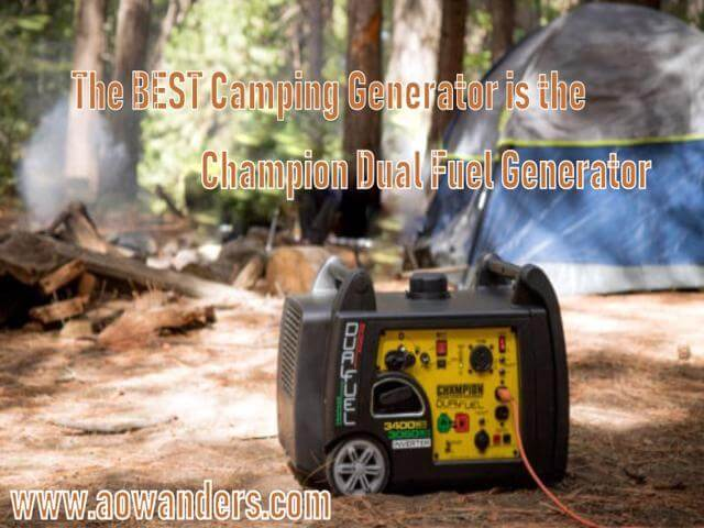 The best camping generator for your new travel trailer is the 3400 watt dual fuel electric start generator. Capable of running for up to 14 hours off of either propane or gasoline this quiet generator is made for camping. Whether in your new motorhome, camper, 5th wheel or travel trailer. This ultra quiet portable generator is the best electric start generator on the market today.