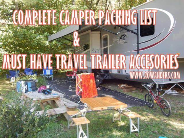 In this Camper must haves guide and in depth travel trailer accessory list its time to talk about RV tools. Every camper needs tools, but you only need basic hand tools. A socket set, couple of screw drivers, drill and a hammer. www.aowanders.com