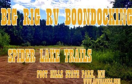 Free RV boondocking near the Spider Lake Trails Recreational area in the Foot Hills State Forest located in Minnesota just south of the Chippewa National Forest. With big open free campsites 5th wheels and travel trailers are welcome.