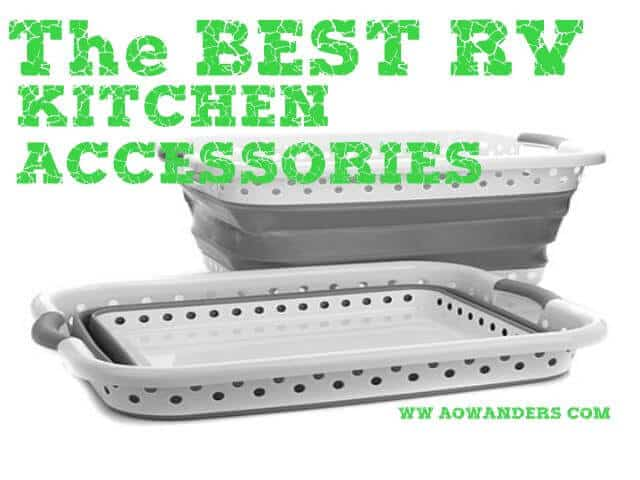 My favorite RV kitchen accessory is a collapsible laundry basket. Because it can stored anywhere and serves multiple functionalities. Plus it requires no electricity. Making it one of the perfect RV Kitchen Accessories for any camper or travel trailer
