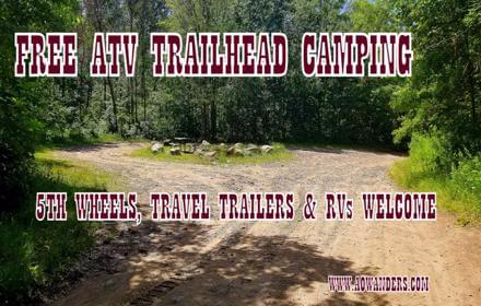 Spider Lake Trails Recreational Area offers free camping right at the ATV trailhead found with in the Foot Hills State Forest in Minnesota