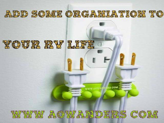 Add some organization to your RV life with this RV kitchen accessory.  The outlet plug holder.