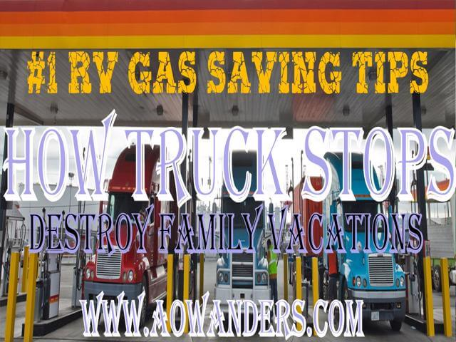 #1 RV Gas Saving Tip--Stop using Truck stops to refuel your RV.  If you have to stop for gas try to find a neighborhood gas station.  When forced to refuel your RV at a truck stop go inside and prepay for your fuel.  If you don't you could end up with a bank hold that could last 7 days.  Denying you access to your travel funds!