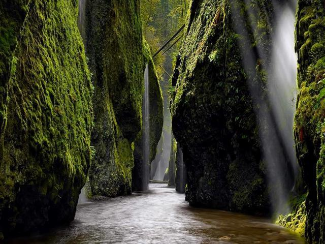 When your RV Road trip turns boring get out and do some hiking in the slot canyons of the Pacific NorthWest.