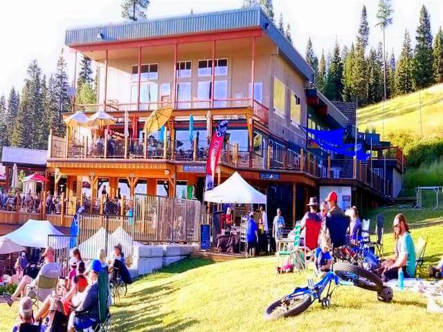 Enjoying a free concert at Brundage Ski Resort in McCall Idaho at the end of our summer RV road trip out west from Becker Minnesota.
