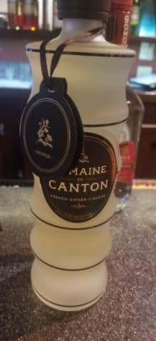 Domain De Canton a French Ginger Liquerer  used to make an asian style mule at Jasmine + Ginger Thai restaurant in McCall Idaho