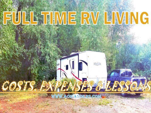 Full Time RV Living costs, expenses, lessons and income.  A complete recap of this families first year living in an RV full time.
