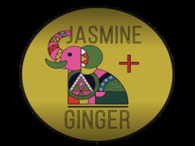 Jasmine + Ginger Thai restaurant in McCall Idaho logo.