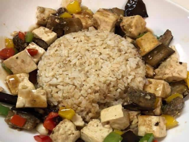 Super popular tofu dinner entree from the new Jasmine & Ginger menu