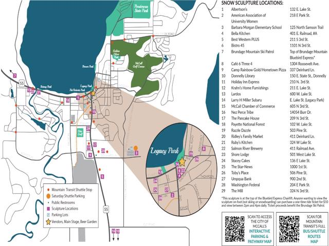 Official Map of events and activities for the McCall Winter Carnival