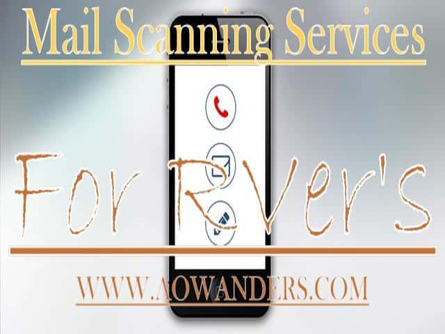 Mail scanning services for RVers can range from $9-$100 a month. All depending on how much mail you receive.