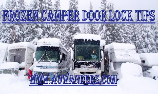 How to combat frozen camper door locks in under 5 seconds