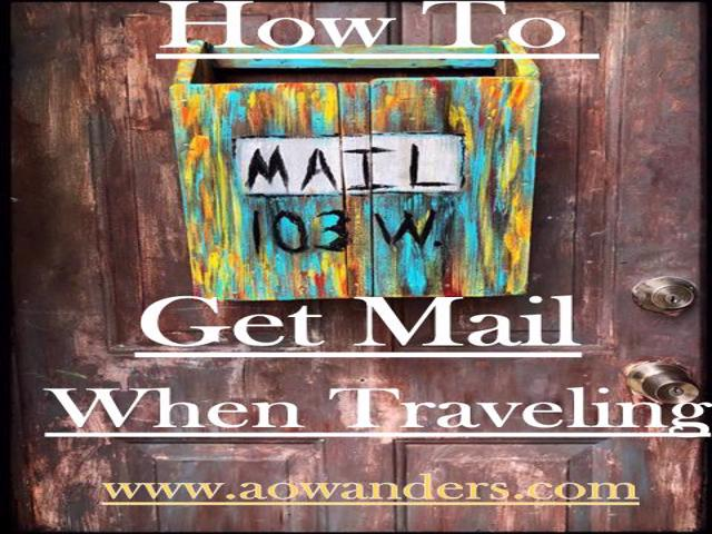 How to get your mail while living out of an RV full time. This RV mail delivery Guide will help you figure all that out and more. www.aowanders.com