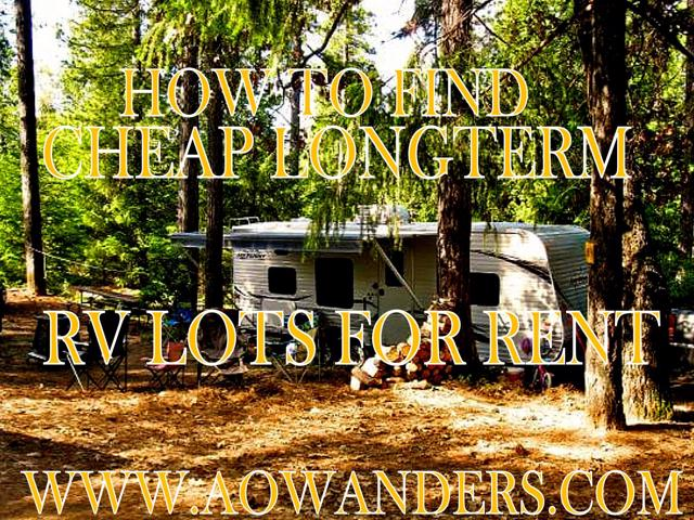 Cheap and affordable longterm lot rv hookups for rent