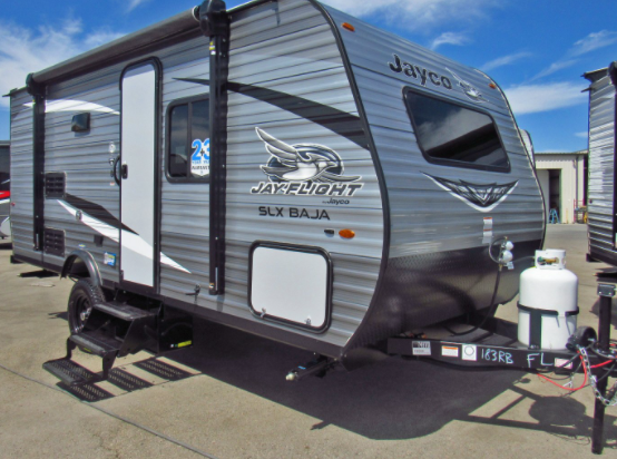 17 foot Jayco Flight small towable camper with full bathroom and shower