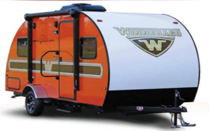 Winnebago Minnie Drop is a modern sleek lightweight towable camper. Equipped with state of the art camper accessories and high end kitchen amenities.