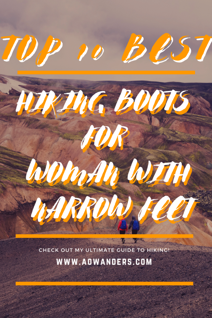 Helpful guide to finding hiking boots for women with narrow feet.