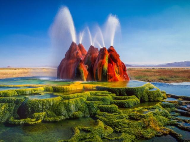 Minnesota camping destinations don't come with area attractions like the beautiful fly geyser found out West.