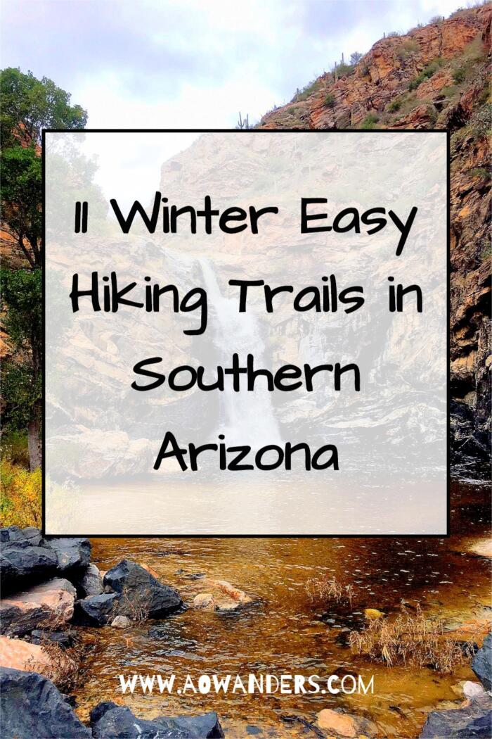 Sonoita Creek trail in southern Arizona is one of the more mellow hikes, and also allows for overnight camping on the beach.  Making it a locals favorite hike in the area.