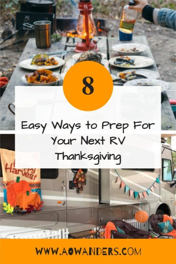 Helpful tips to prep for your next RV Thanksgiving Feast
