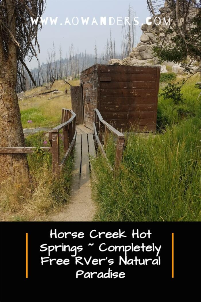 Locals guide to the rustic and free Horse Creek Hot Springs in Idaho