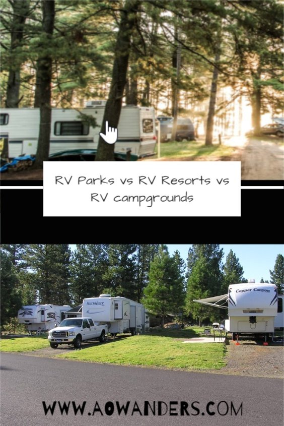 Determine the difference between an RV Park, RV Resort, and an RV Campground?