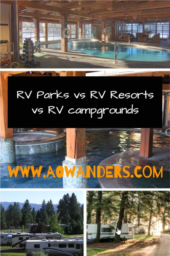 Easy guide to explaining the difference between an RV Park, RV Resort, and an RV Campground?