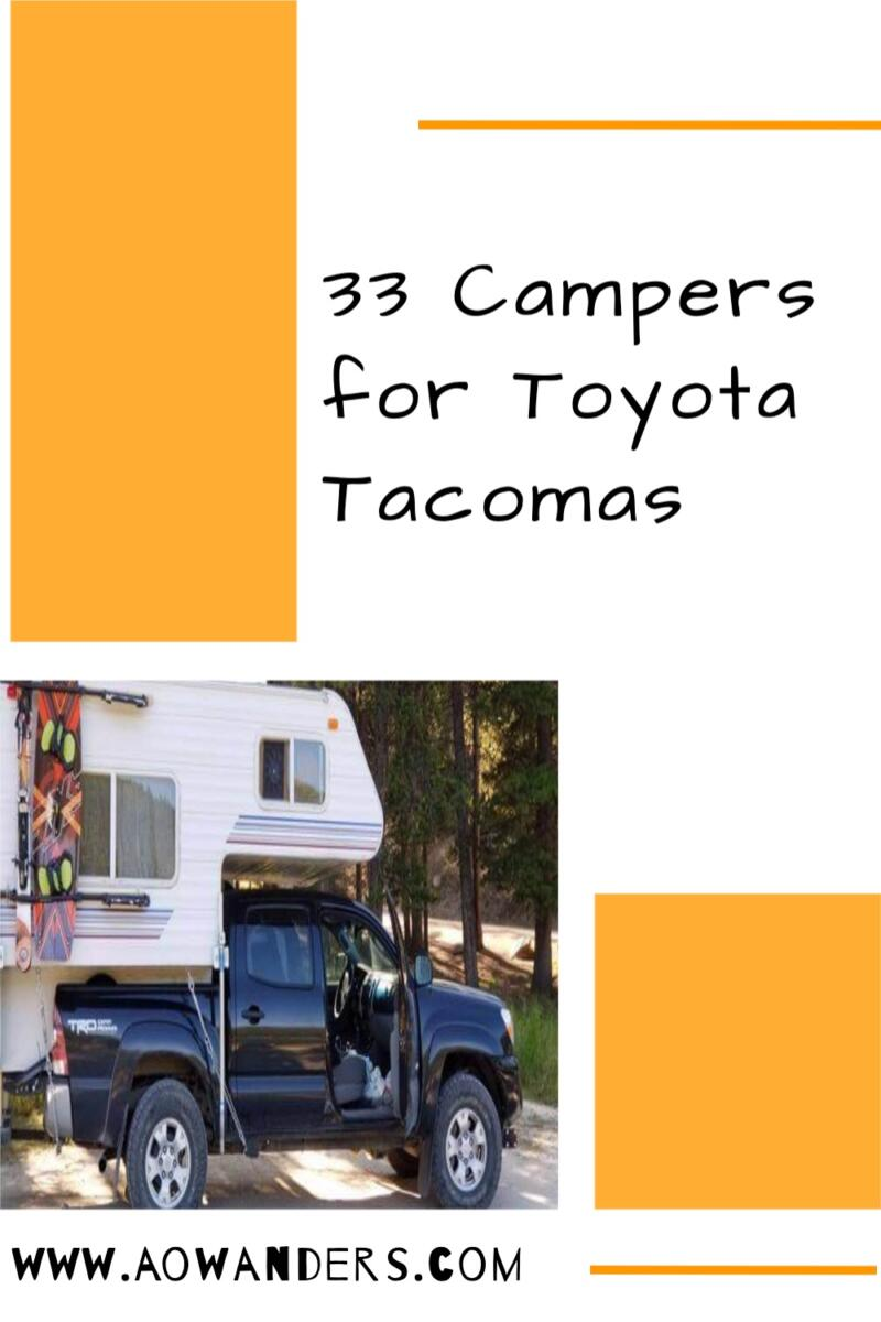 Ultra light campers for Toyota Tacomas