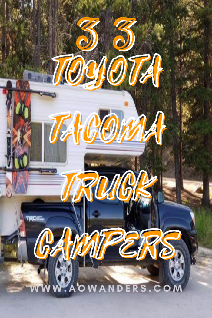 Slide in Toyota Tacoma Truck Campers and other mid-sized pickup truck campers.