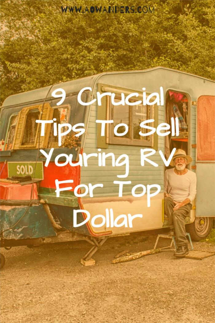 Nine Things to do before selling your RV