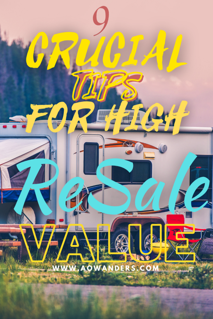 Helpful tips and suggestions to follow to sell your used RV for the highest resale value.