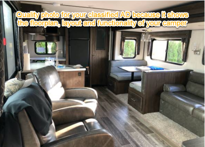 Example of a good photo to use for your online RV classified ad