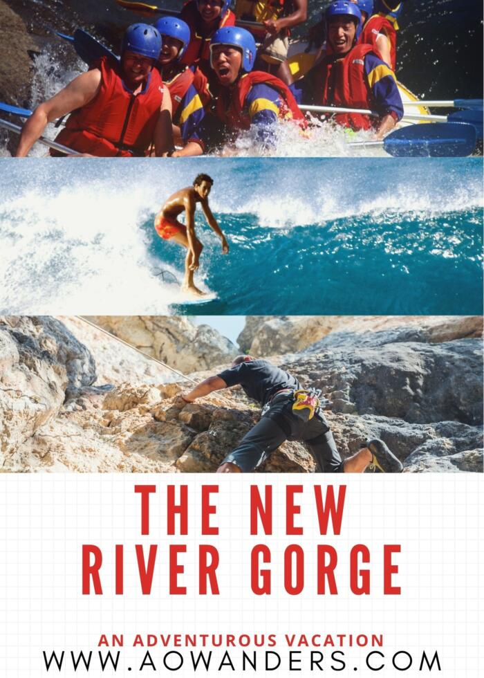The New River Gorge in West Virginia is America's newest National Park and its an adventure seekers playground. With whitewater rafting, climbing, surfing, hiking and even high altitude bridge walking catwalk suspended 800 feet in the air.